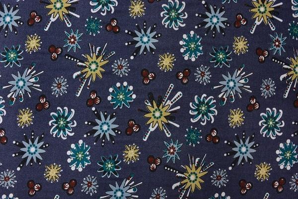 Wolle - Bekleidungsstoff - Sternenblumen - 88 cm breit - 9,95 € / 1 Meter