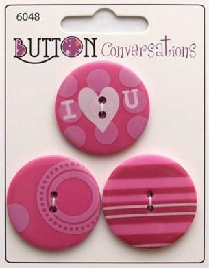 Button Conversations - Pink