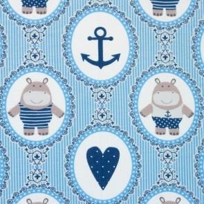 Flußpferd - Maritim - Blau