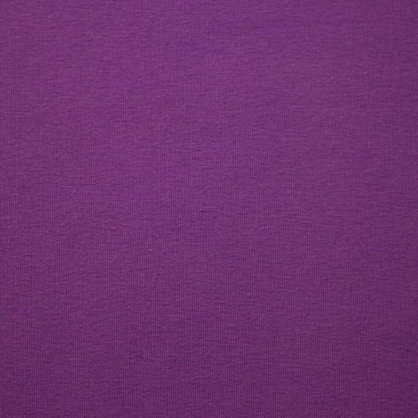 Jersey Baumwolle Stoff - Uni Violett