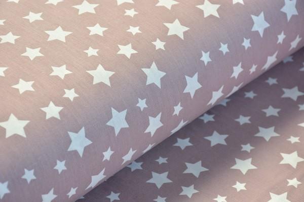 Baumwolle Dekostoff - Sterne - Altrosa - 240 cm breit - 8,95 € / 1 Meter