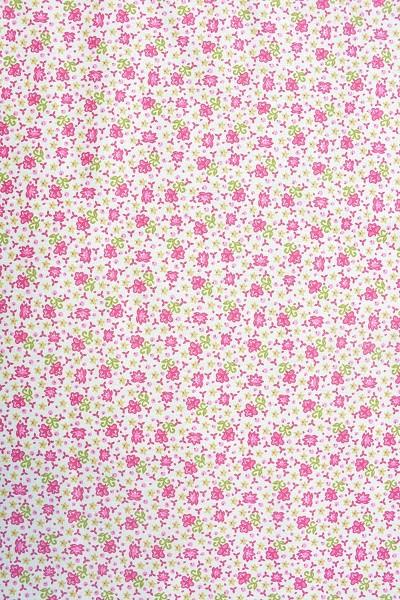 Popeline Baumwolle Bekleidungsstoff - Streublümchen - Fuchsia-Weiß - Information zur Bestellmenge be
