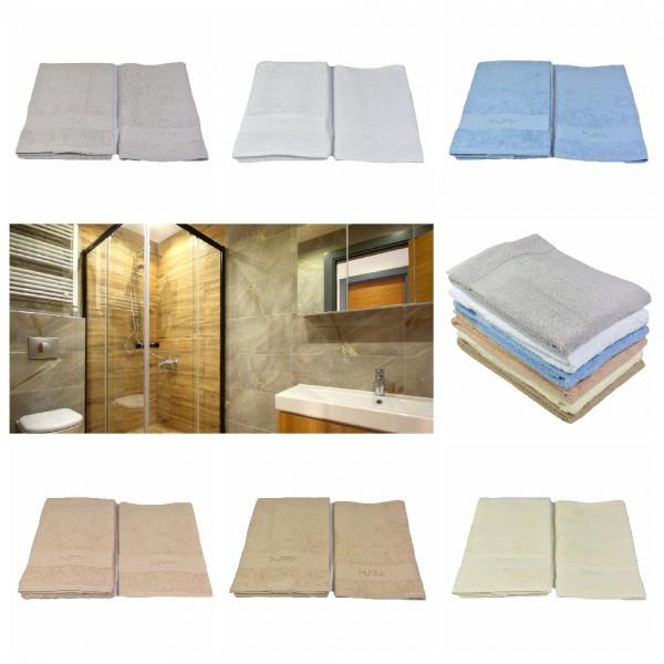 BYBLOS 2-tlg. Handtuch Set , 1 Handtuch 40 x 60 cm / 1 Handtuch 60 x 110 cm in versch. Farben