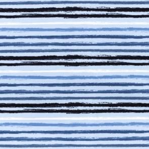 Jersey - Streifen - Blau
