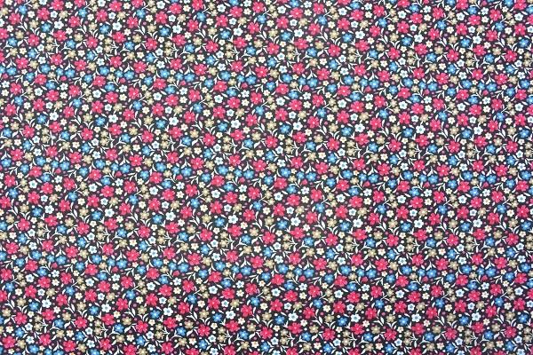Popeline Baumwolle - Streublumen - Pink - 6,00 € / 1 Meter