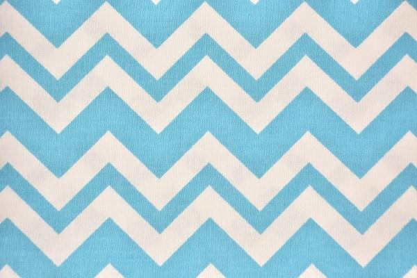 Baumwolle Dekostoff - ZicZac - Hellblau - 240 cm breit - 12,95 € / 1 Meter