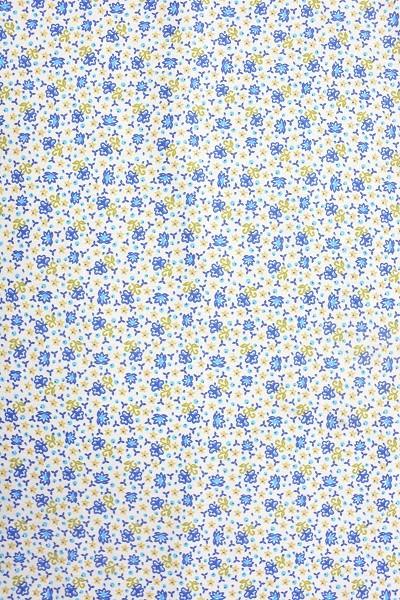 Popeline Baumwolle - Streublümchen - Blau-Weiß - 6,00 € / 1 Meter