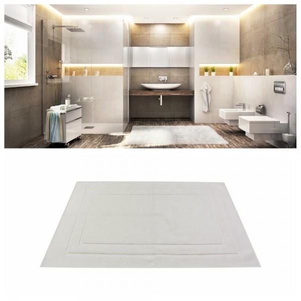 Badvorleger Uni Rechteck 50 x 70 cm - Weiß