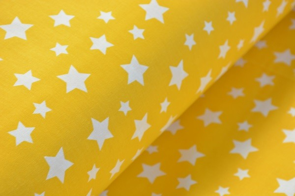 Baumwolle Dekostoff - Sterne - Gelb - 240 cm breit - 12,95 € / 1 Meter
