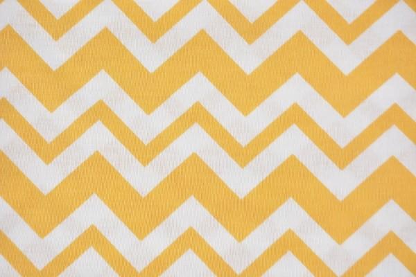 Baumwolle Dekostoff - ZicZac - Gelb - 240 cm breit - 8,95 € / 1 Meter
