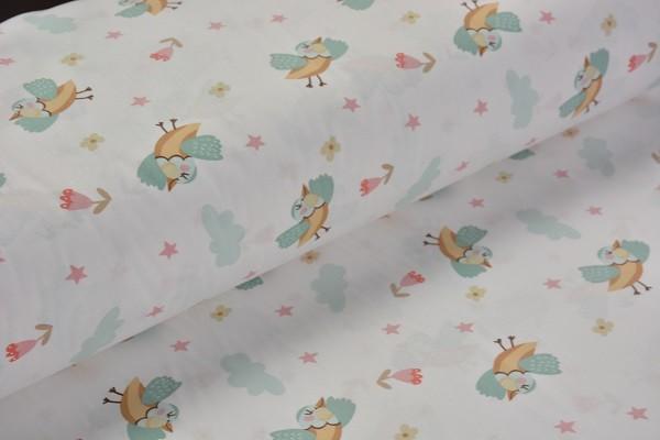 Baumwolle Dekostoff - Vögel - Grün - 240 cm breit - 9,95 € / 1 Meter