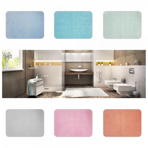 Badvorleger Uni wellig 50 x 70 cm - verschiedene Farben