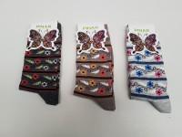 Damen-Socken versch. Muster und Farben, Größe 35-38