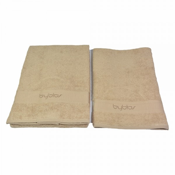 BYBLOS 2-tlg. Handtuch Set , 1 Handtuch 40 x 60 cm / 1 Handtuch 60 x 110 cm / Braun