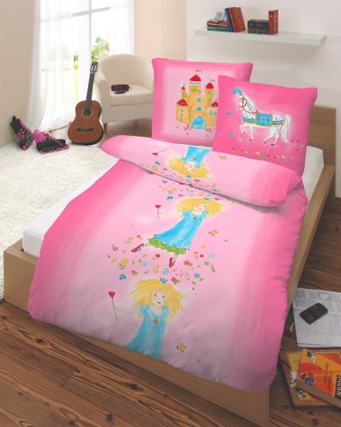 Premium Feinbiber Bettwäsche - Prinzessin Pink