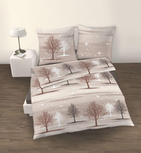 Winter - Bäume - Beige - Braun