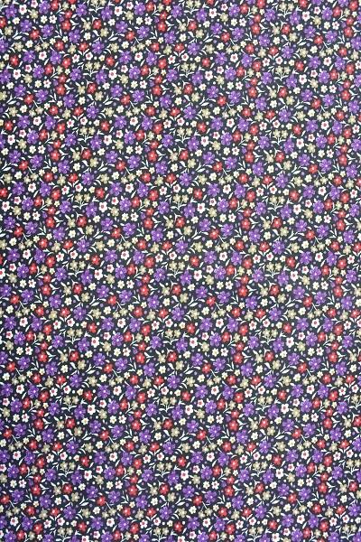 Popeline Baumwolle - Streublumen - Lila - 6,00 € / 1 Meter