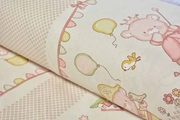 Baumwolle Dekostoff - Bären - Pärchen - Pirat und Prinzessin - Sand - 240 cm breit - 9,95 € / 1 Mete