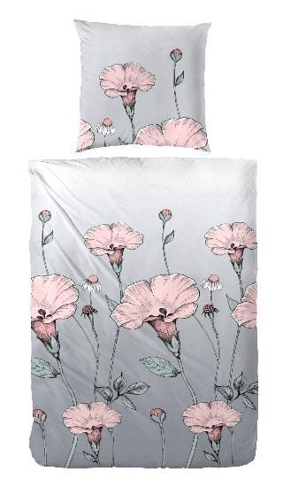 Mohnblume - Rose - Grau