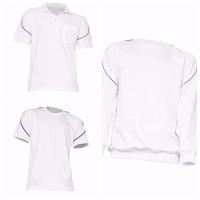 Herren Comfort Sweatshirt Poloshirt T-Shirt weiß schwarz Gr. S M L XL XXL