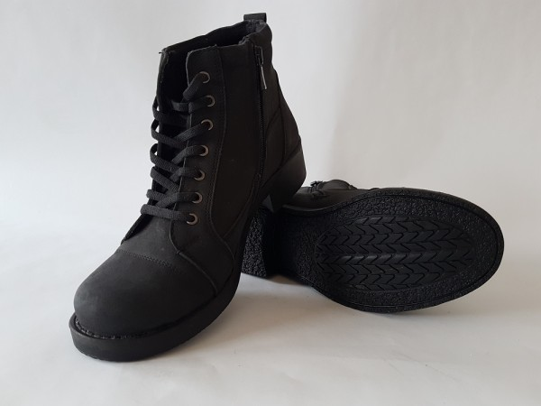 Vennex Textilland Damen Ankle Boots schwarz