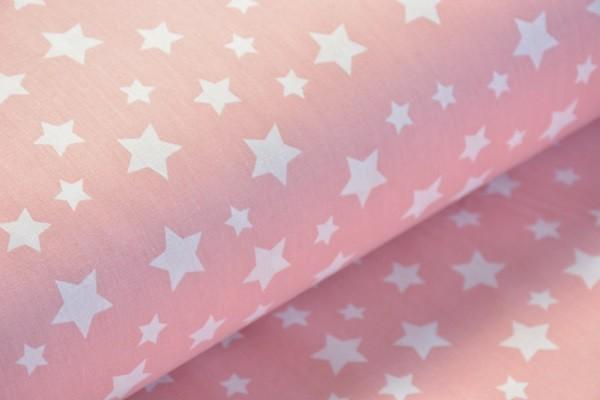 Baumwolle Dekostoff - Sterne - Rosa - 240 cm breit - 8,95 € / 1 Meter