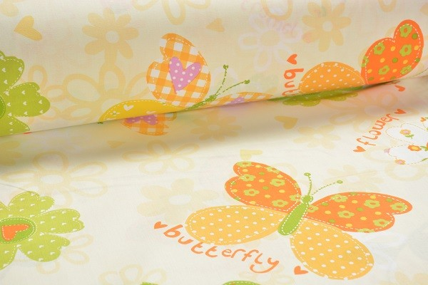 Baumwolle Dekostoff - Butterfly - Gelb - 240 cm breit -9,95 € / 1 Meter