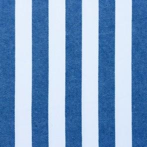 Jeansstoff - Streifen Blau - Weiß