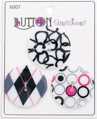 Button Sensations - Weiß/Bunt - 33 mm