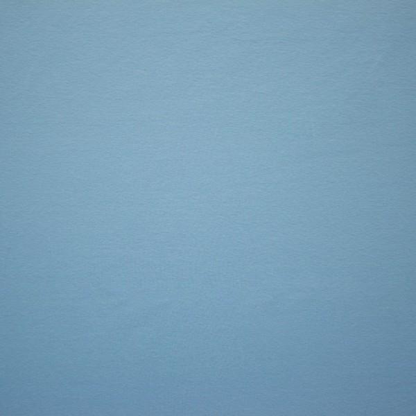 Jersey Baumwolle Stoff - Uni Hellblau