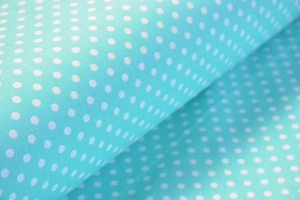 Baumwolle Dekostoff - Punkte - Mint - 240 cm breit - 12,95 € / 1 Meter