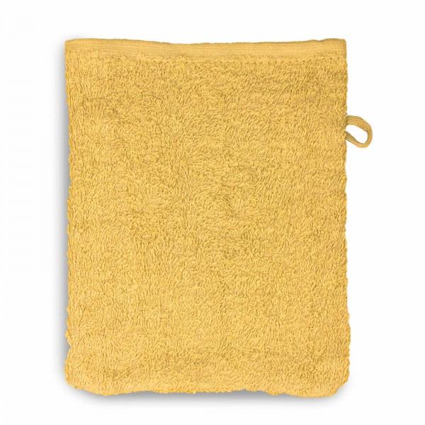 Waschhandschuh - Goldgelb