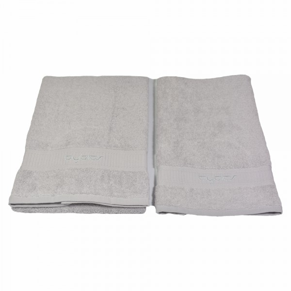 BYBLOS 2-tlg. Handtuch Set , 1 Handtuch 40 x 60 cm / 1 Handtuch 60 x 110 cm / Grau