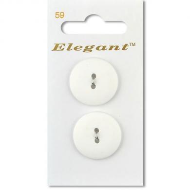 Elegant - Weiß - Durchmesser 2,2 cm