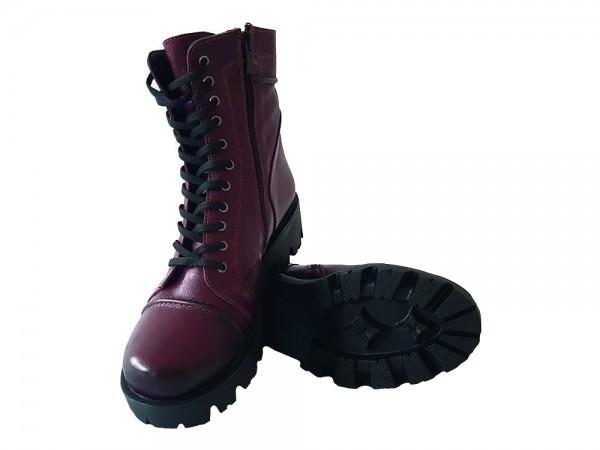 Vennex Textilland Damen Boots - Dunkelrot