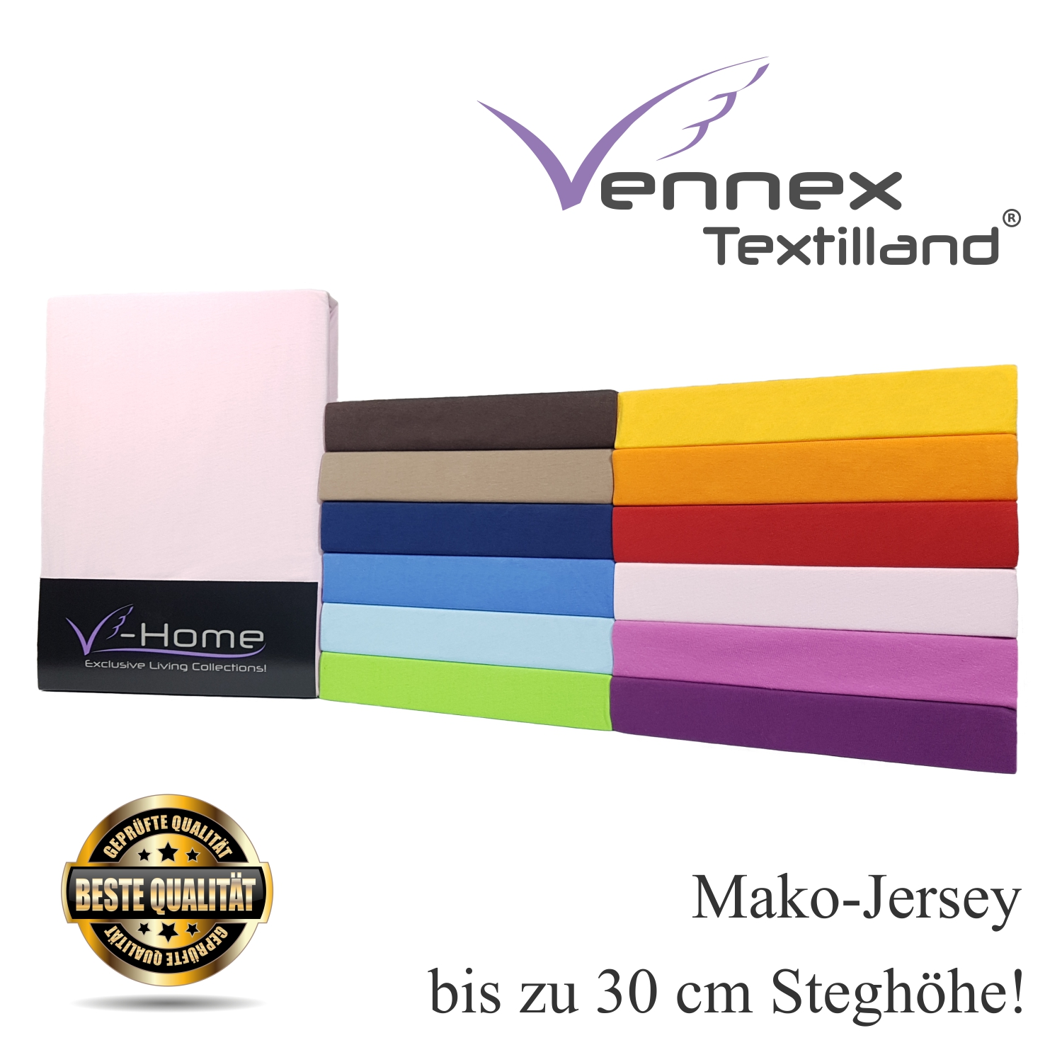 mako jersey spannbettlaken v home high class vennex textilland gmbh. Black Bedroom Furniture Sets. Home Design Ideas