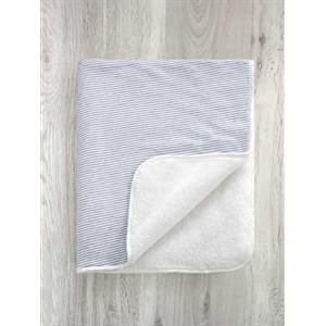 Babydecke - Streifen - Weiß - Grau