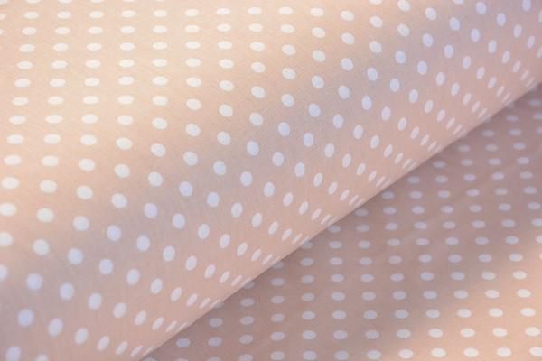 Baumwolle Dekostoff - Punkte - Beige - 240 cm breit - 5,95 € / 1 Meter