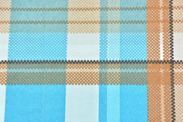 Baumwolle Dekostoff - Karo - Türkis/Braun - 240 cm breit - 8,95 € / 1 Meter