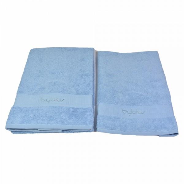 BYBLOS 2-tlg. Handtuch Set , 1 Handtuch 40 x 60 cm / 1 Handtuch 60 x 110 cm / Blau