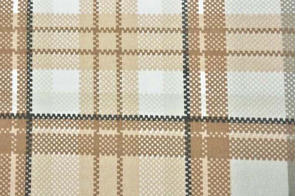 Baumwolle Dekostoff - Karo - Braun/Beige - 240 cm breit - 8,95 € / 1 Meter