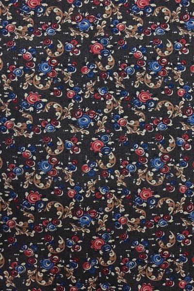 Wolle - Bekleidungsstoff - Blumenwiese - Bunt - 88 cm breit - 9,95 € / 1 Meter