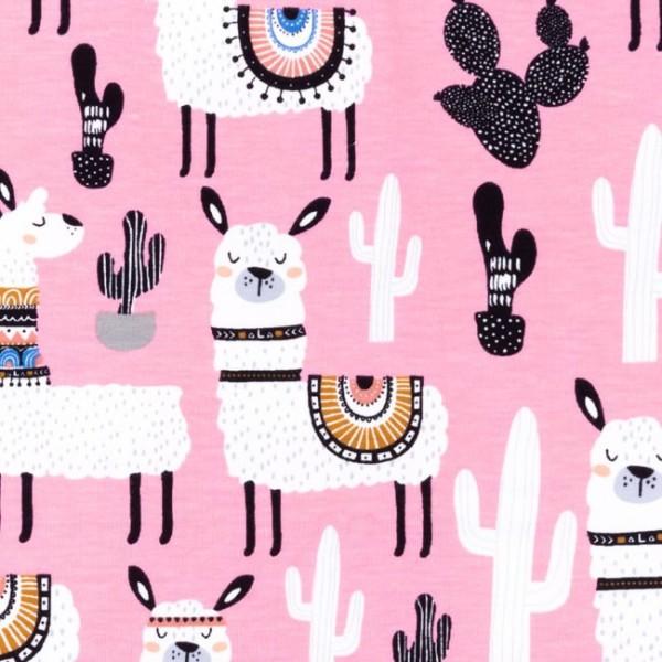 Jersey Baumwolle Stoff - Alpaka - Pink