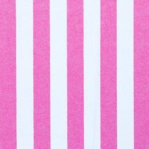 Jeansstoff - Streifen Pink - Weiß