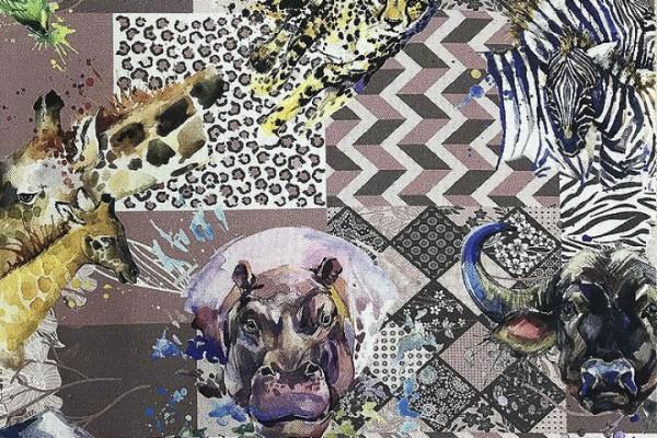 Baumwolle Dekostoff - Afrika Patchwork