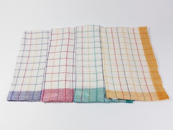 10er-Pack Küchentücher Geschirrtücher Spültücher Trockentücher kariert 45x70 cm