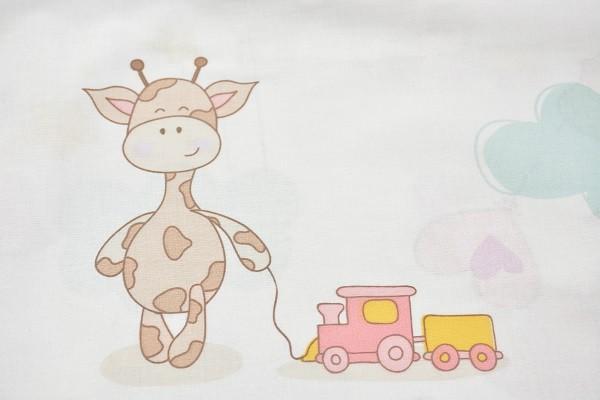 Baumwolle Dekostoff - Vergnügte Giraffe - Mehrfarbig - 240 cm breit - 12,95 € / 1 Meter