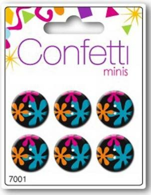 Knopf Confetti Minis - Bunt - Durchmesser 2 cm