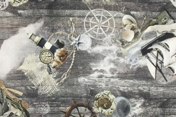 Baumwolle Dekostoff - Maritim Abenteuer