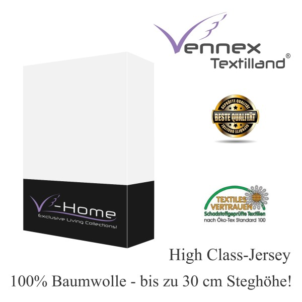 jersey spannbettlaken wei 3 gr en 30 cm stegh he vennex textilland gmbh. Black Bedroom Furniture Sets. Home Design Ideas